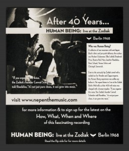 180]    POSTER- HUMAN BEING